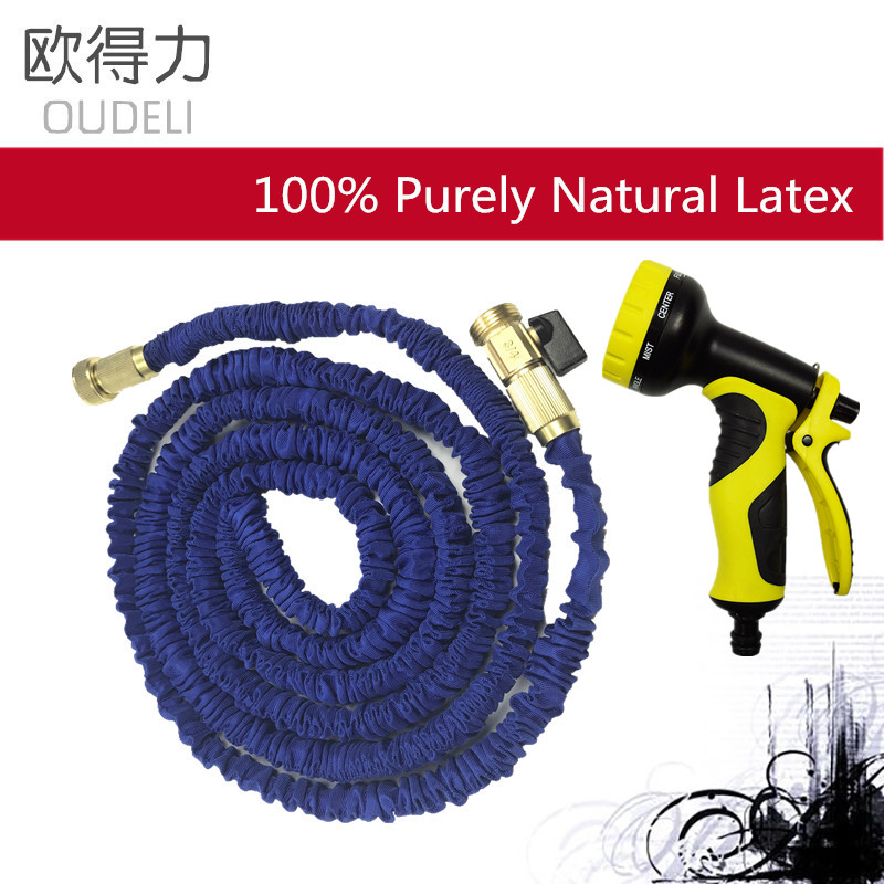 High Quality 25FT 100FT Garden Hose Expandable Magic Flexible Water Hose  With 9 Spray Gun