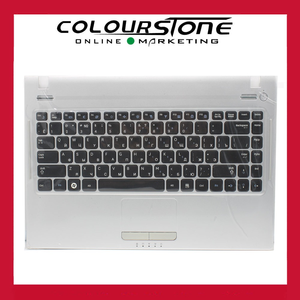 где купить  New For Samsung Q330 Q430 NP-Q330 NP-Q430 Palmrest + Touchpad +RU Russia Keyboard BA75-02685C  дешево