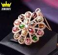 Women Natural Tourmaline Gems Pendant Necklace Genuine 925 Sterling Silver Precious Stone Fine Jewelry