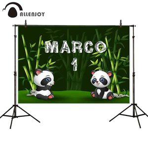 Image 2 - Allenjoy Verjaardag Fotografie Achtergrond Panda Bamboe Bos Custom Achtergrond Foto Studio Schieten Prop Photophone Photocall Decor
