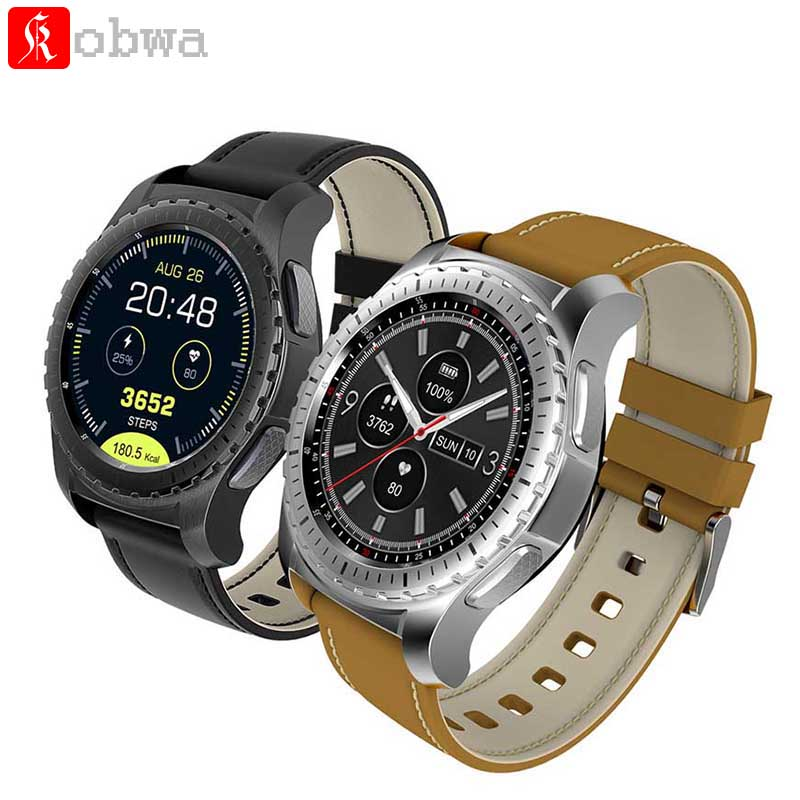 Kobwa KW28 Smartwatch Phone 1.3 inch Smart watch Heart Rate Monitor Anti-lost Support SIM/TF Card Smart Watch For xiaomi Samsung stylish smart watch phone support sim tf