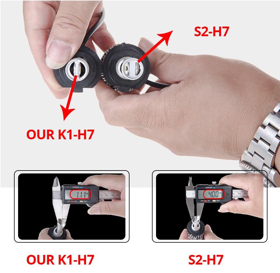 Aceersun H4 LED H7 H1 H11 H8 H9 9005 HB3 HB4 9006 Mini Car headlight 72W 8000LM COB 3000K 4300K 6500K 8000K Hi Lo Beam 12V 24V (5)