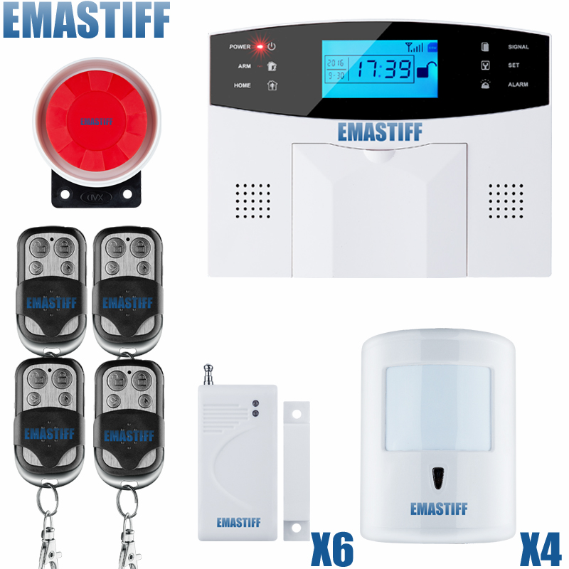 Free shipping Wireless SMS Home GSM Alarm system House intelligent Burglar Security Alarm System+ 4 pet friendly motion sensor 5 second fix liquid plastic welding kit uv light repair tool glue kit