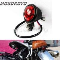 Retro niestandardowe motocykl LED Taillight Bates tylny światła stopu dla Harley Cafe Racer Scrambler na