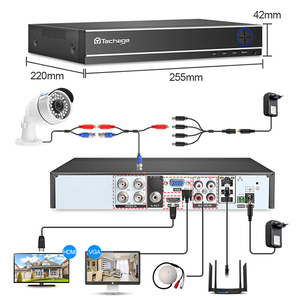Image 2 - Techage CCTV Camera System 4CH 1080P 2MP AHD Security Camera DVR Kit IP66 Waterproof Outdoor Home Video Surveillance Set 1TB HDD