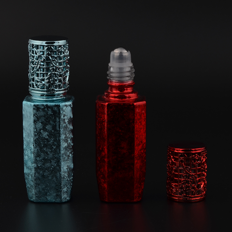 MUB 10ml Mini Cute Glass Portable Perfume Bottle With Roll-on&Empty Perfume Case With alloy cover portable bottle 100pcs new 2ml clear glass roll on bottle with clear cap