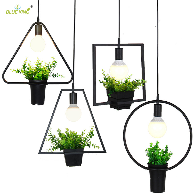 Modern Industrial Wrought Iron Modern Pendant Lights With