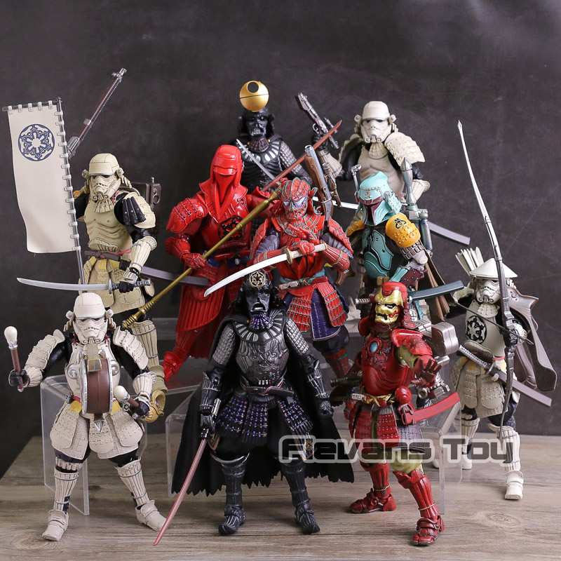 Star Wars Samurai Taisho Darth Vader Death Star Armor Ashigaru Stormtrooper Boba Fett Spiderman Iron Man Action Figure Model Toy star wars story 15cm range trooper darth vader darth maul boba fett pvc action figure toy collectible model doll toys bkx118