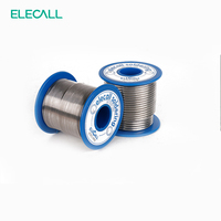 ELECALL New Arrival 41SN Pure Tin 2.3mm 450g Rosin Core Tin/Lead Rosin Roll Flux Reel Lead Melt Core Soldering Tin Solder Wire