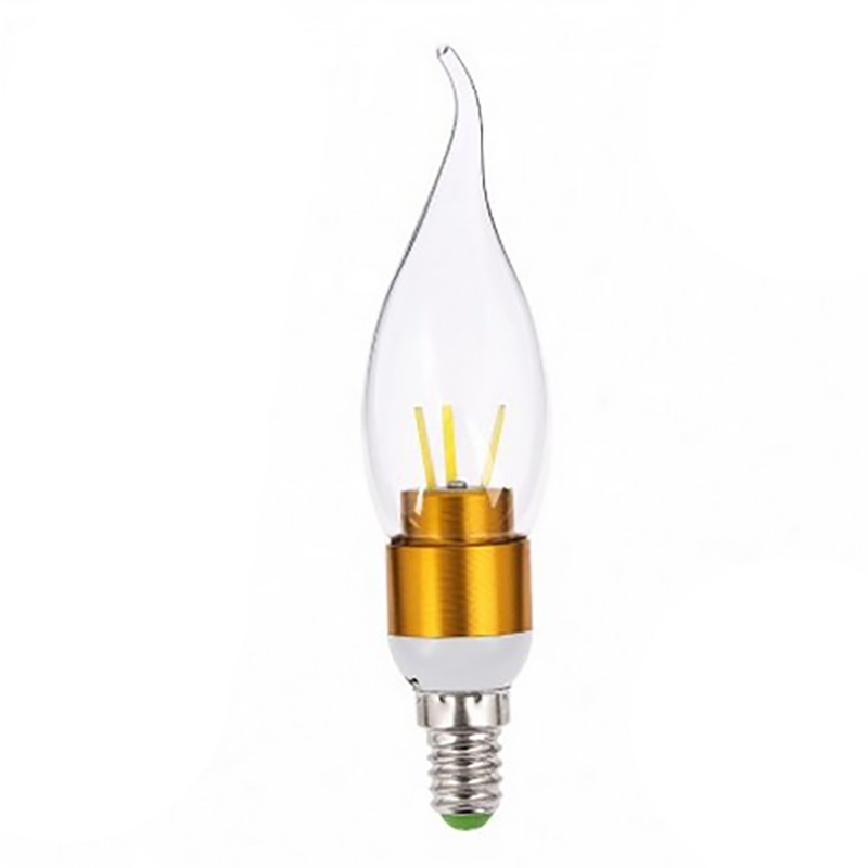 LAIMAIK LED E14 Filament Candle Bulb 86-265V LED E14 Lamp 3W 6W Led Bubble Ball Lamp Crystal Chandeliers 360 Degrees LED Bulbs