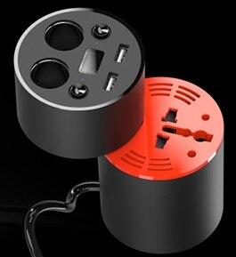 Nueva caliente cargador de coche viene con 90 W inversor display cigarrillo encendedor