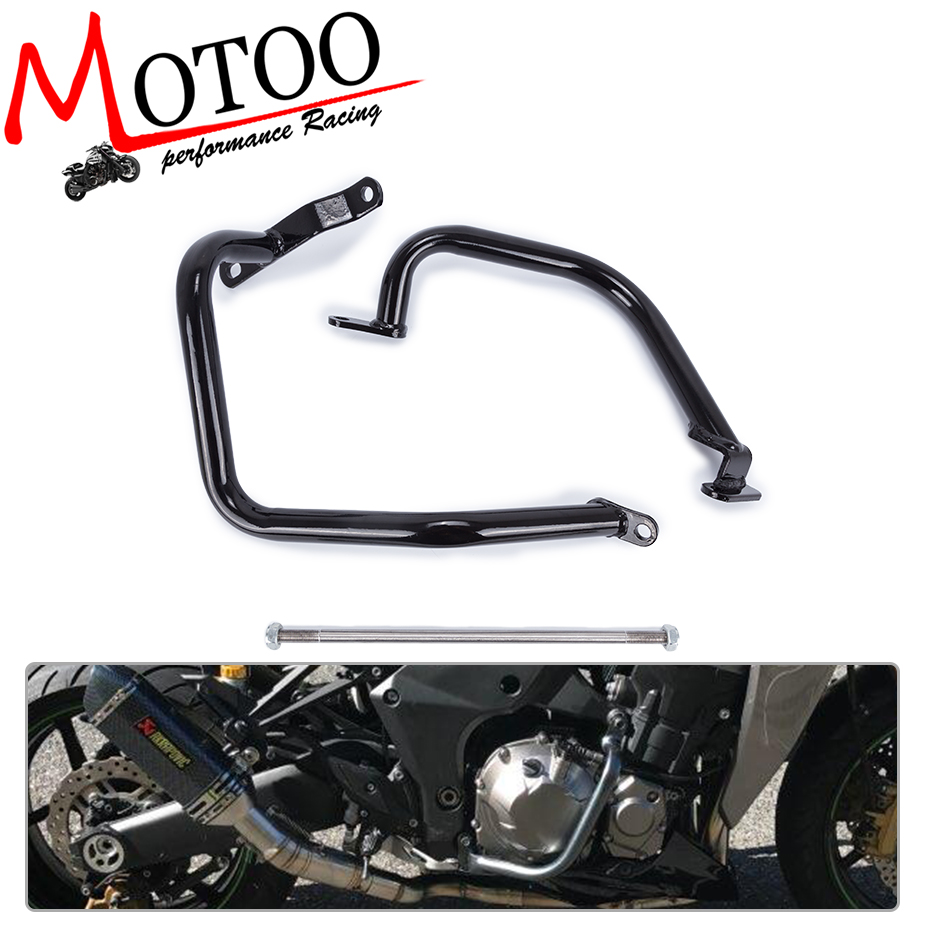 Motoo - 2010 2011 2012 2013-2017 for KAWASAKI Z1000 Z 1000 Black Engine Guard Crash Bar Protector motorcycle radiator protective cover grill guard grille protector for kawasaki z1000sx ninja 1000 2011 2012 2013 2014 2015 2016