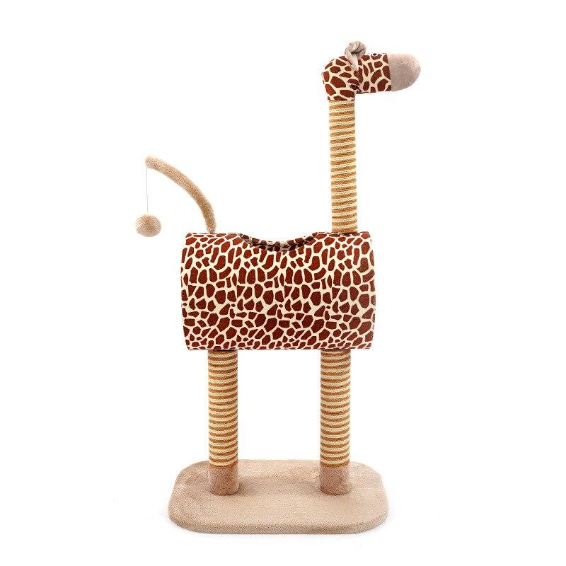 Girafe design pour chats arbre escalade chat tour arbre étagère pour animaux de compagnie meubles chaton maison sisal chat post gratter animal de compagnie approvisionnement