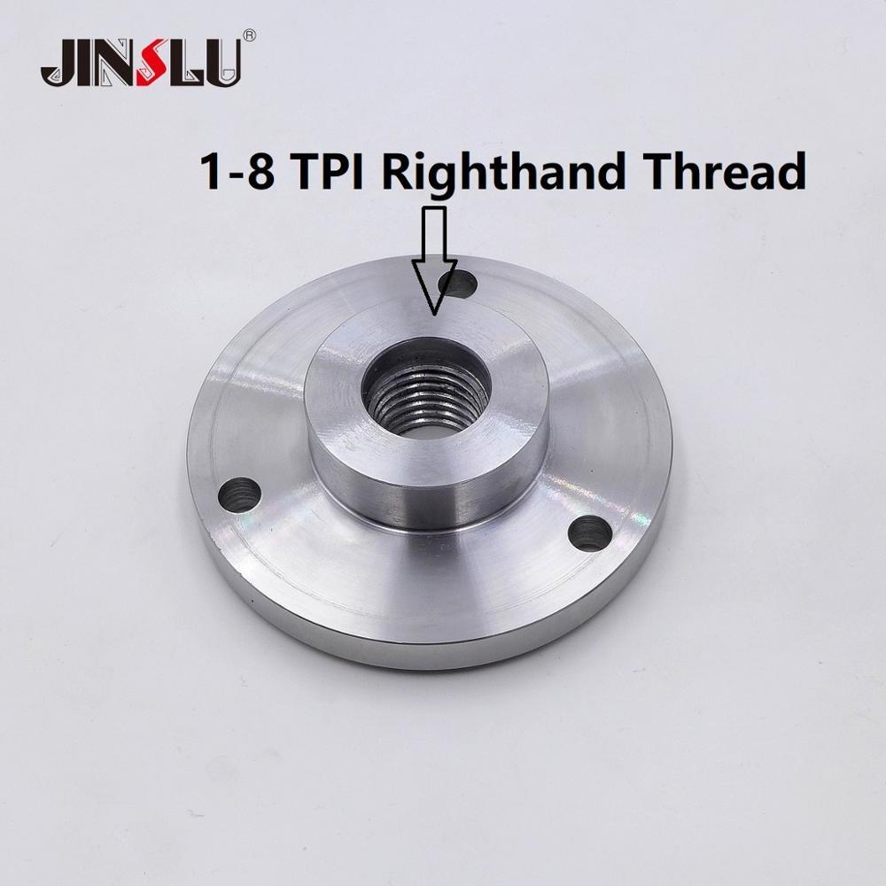 1-8 TPI Spindle Thread Chuck Flange Back Plate Base Plate Adapter Plate Chuck K11-80 K12-80  K11-100 K12-100  K11-125 K12-125