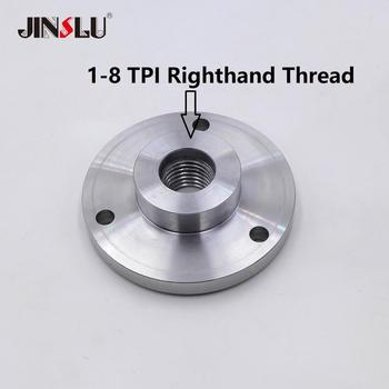 цена на 1-8 TPI Spindle Thread Chuck Flange Back Plate base plate Adapter Plate chuck K11-80 K12-80  K11-100 K12-100  K11-125 K12-125