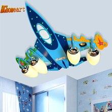 Top Holz Flugzeug Led-deckenleuchte Kinder USB Lautsprecher Led E14 Birne 110 V-220 V Audio Verstärker Lampe Led Kinder Deckenleuchten