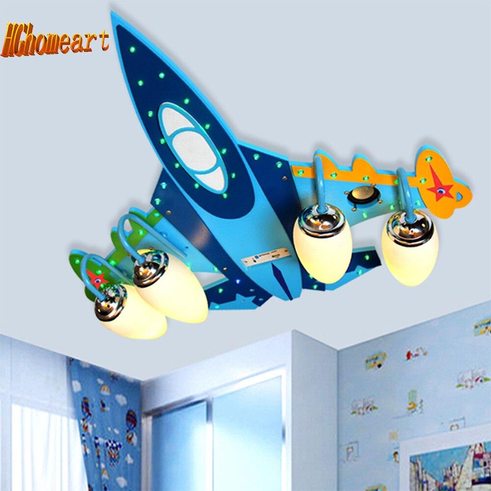 Wooden led ceiling lamps childrens lamps decorative lighting for kids - Top Wooden Airplane Led Ceiling Light Kids Usb Speakers Led E14 Bulb 110v 220v Audio