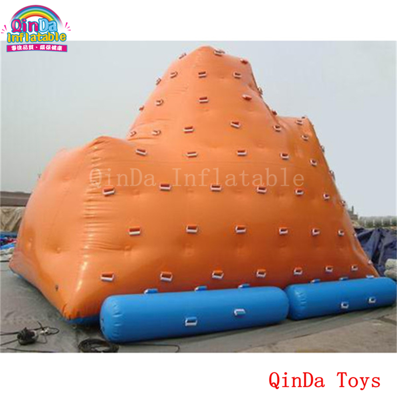 Wholesale 0.9mm PVC inflatable water rock climbing wall ,4*3*3m inflatable floating island for swimming pool environmentally friendly pvc inflatable shell water floating row of a variety of swimming pearl shell swimming ring