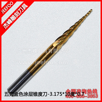 3.175*10 Five flute engraving tools with coating