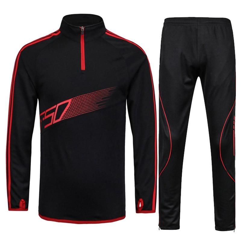 Men Football Jerseys Training Tracksuit Set Mens Kids Outdoor Sport Suit Coat Running Gym Jogging Skinny Leg Pants Soccer Jersey