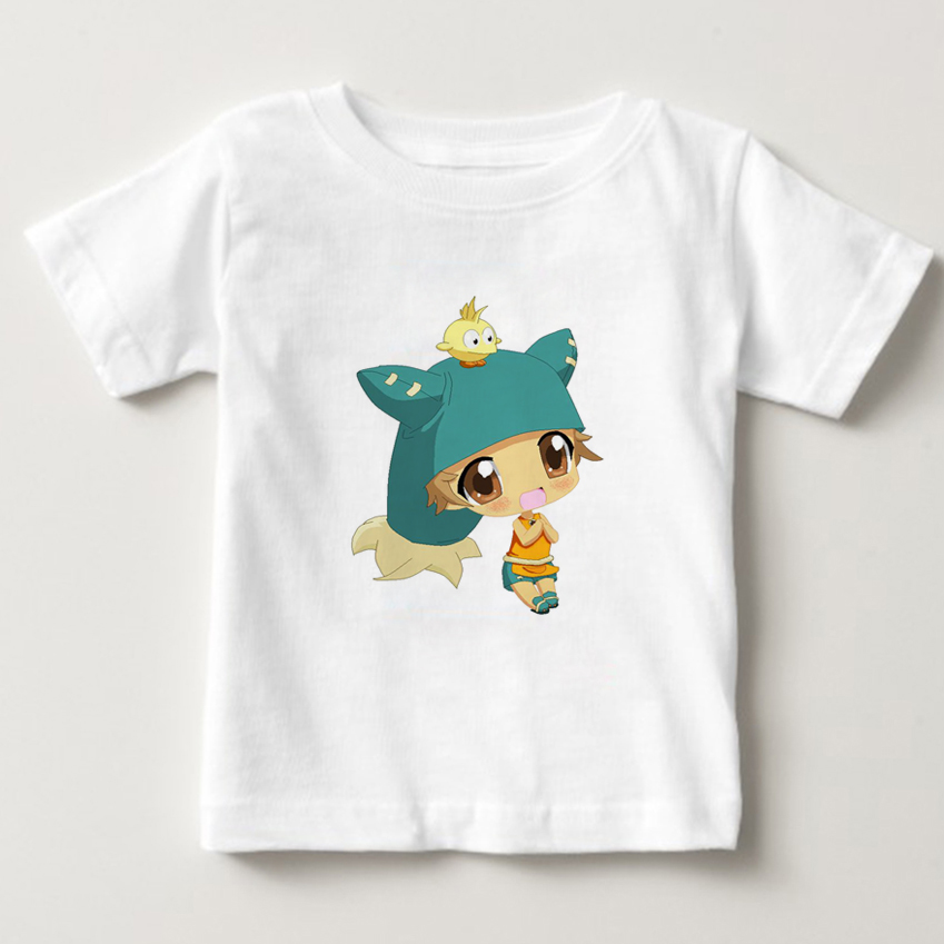 Children Short Sleeves T-shirts Boy/Girls Summer 100%Cotton Cartoon Print Tee Tops Clothes Kids wakfu Game T Shirts Costume NN