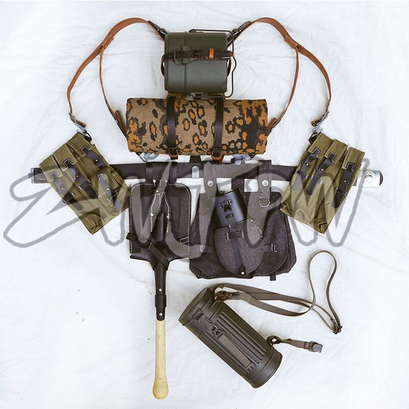 GERMAN EQUIPMENT MP40/P38 CANVAS FIELD GEAR PACKAGE EQUIPMENT COMBINATION