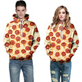 2017 New Mens Hoodies Tracksuit Hip Hop Fashion Harajuku 3D Printed Pizza Pullover Lovers Outerwear Sweatshirts Loose Hoody