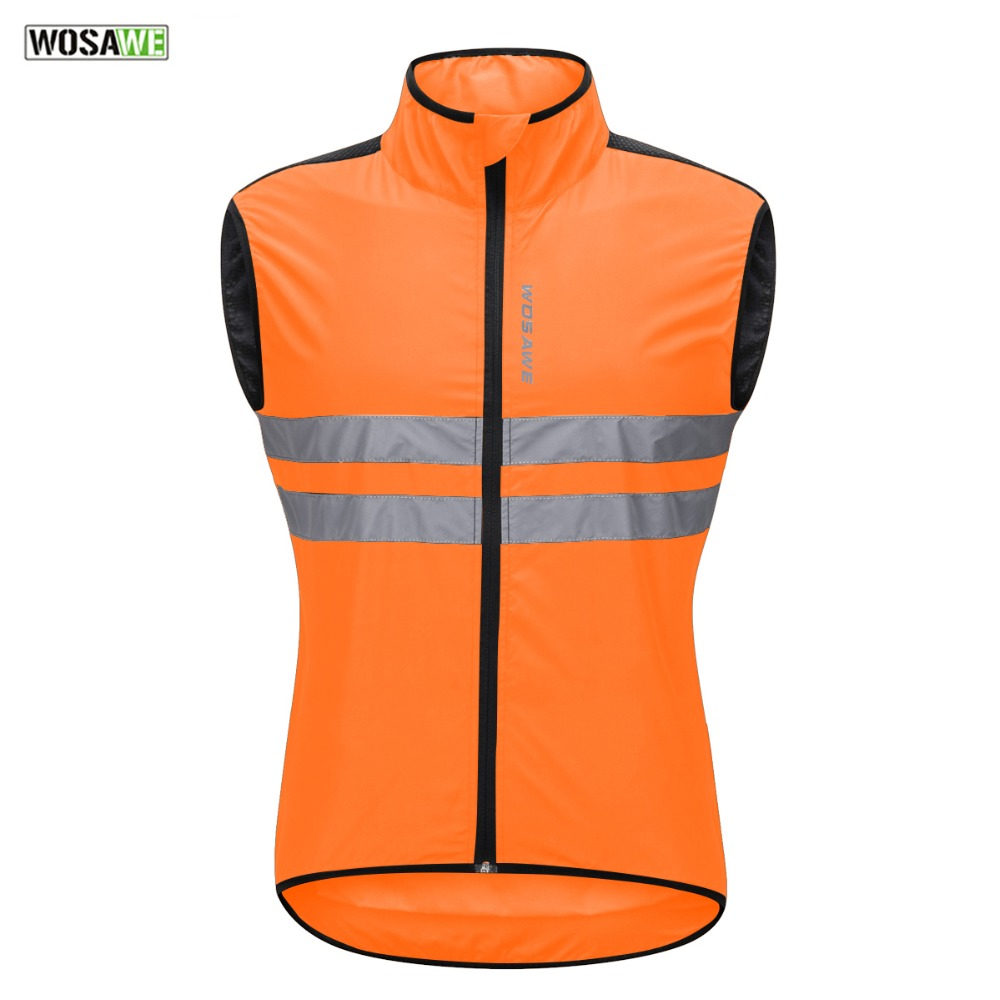 WOSAWE High Visibility Moto Jacket Reflective Vest Off-Road Night Riding Running Motorcycle Safety Jacket Motorbike Waistcoat