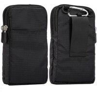 Universal Für Alle Unten 6,3-6,9 zoll Handys Beutel Im Freien 3 Taschen 2 Reißverschlüsse Brieftasche Fall Gürtel Clip tasche für smartphone