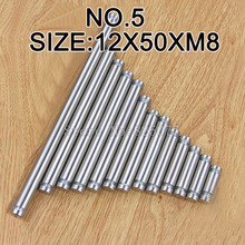 DHL 100PCS Diameter 12x50mm Stainless Steel Double Head Hollow Screw Acrylic Billboard Advertisement Fixing KF976