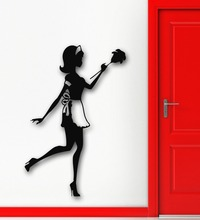 Wall Sticker Vinyl Decal Housekeeper Sexy Girl Maid Cleaner Coolest Decor