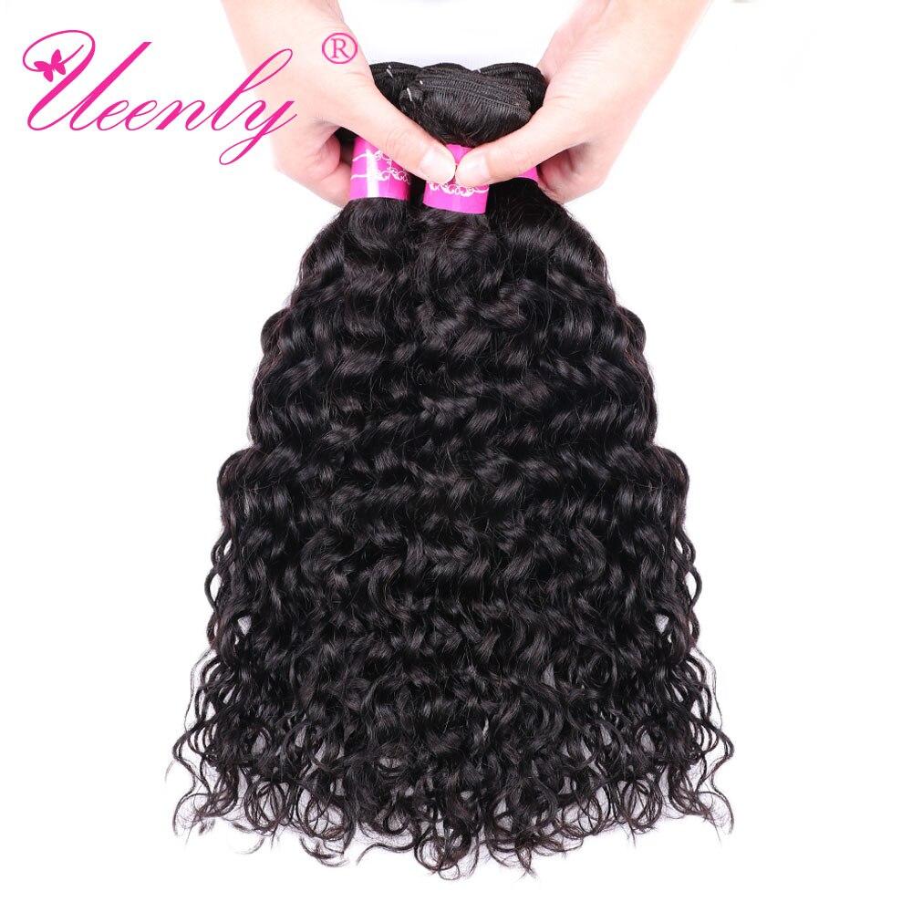 UEENLY Human-Hair Bundles Water-Wave Brazilian Non-Remy 8-28inch 3pcs/Lot