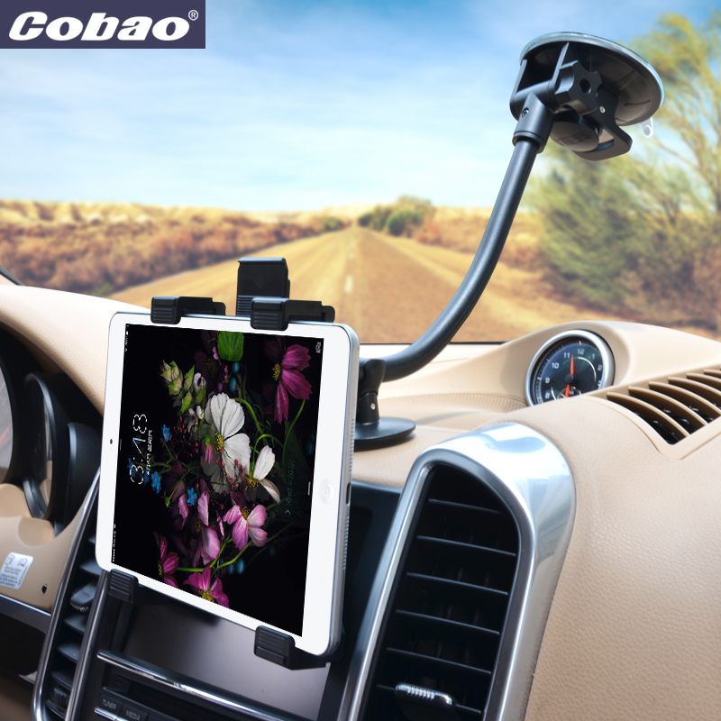 Schwanenhals Einstellbar 7 11 zoll Tablet Halter Auto Cup Tablette Montieren Halter Für iPad 4 3 2 Mini Für Galaxy Tablet