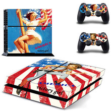 America victory girl  Vinyl Skin Sticker Cover for Sony PS4 PlayStation 4 and 2 controller skins