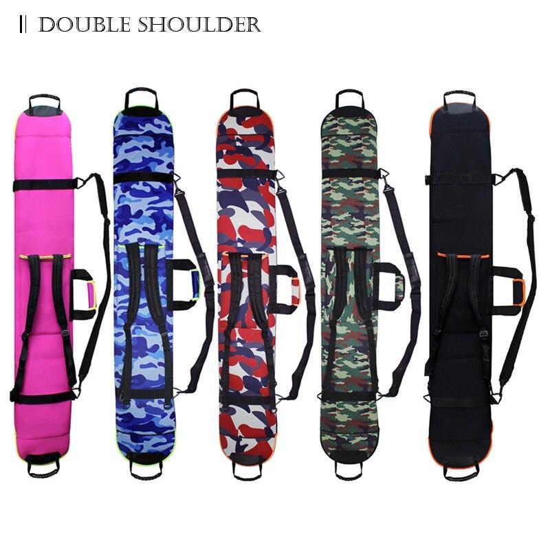 2018 nouveau sac de ski de Snowboard sac unique résistant aux rayures Monoboard Plate étui de protection multicolore Double épaule