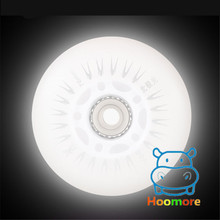Free Shipping LED Flash Wheel 80mm 76mm 72mm 70mm 68mm 64mm for Inline Skates 90A for Adults Kids SEBA RB Roller Wheels