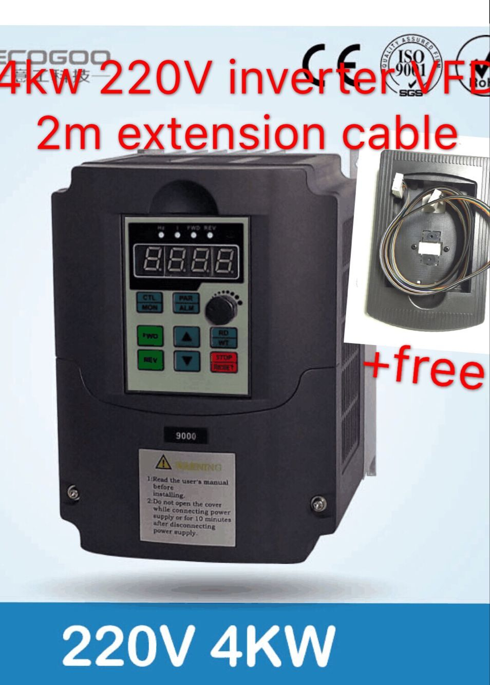 цена на HOT !!! 220v 4.0kw VFD Variable Frequency Drive VFD /Inverter 1HP or 3HP Input 3HP Output frequency inverter