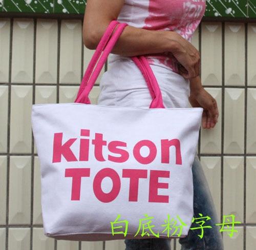 Multicolour letter casual bag women's handbag star bag letter canvas bag