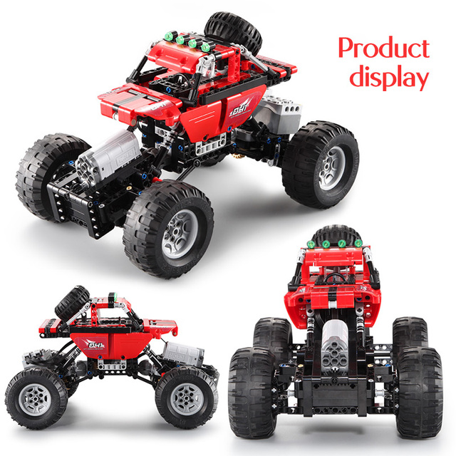 2.4Ghz City Off-Road Racing Building Blocks Technic RC All Terrain Off-Road Climbing Trucks Car Bricks Toys For Boys