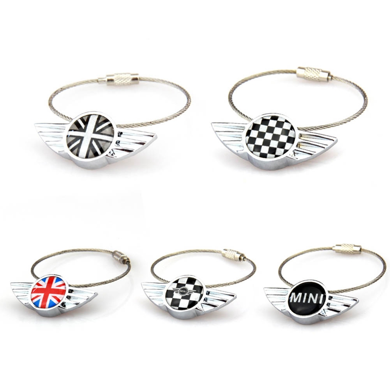 1pc Stainless Steel Key Chain Keychain Key Ring Keyring For <font><b>Mini</b></font> Cooper JCW One S Clubman Countryman R55 R56 R60 R61 F55 <font><b>F56</b></font> F60 image