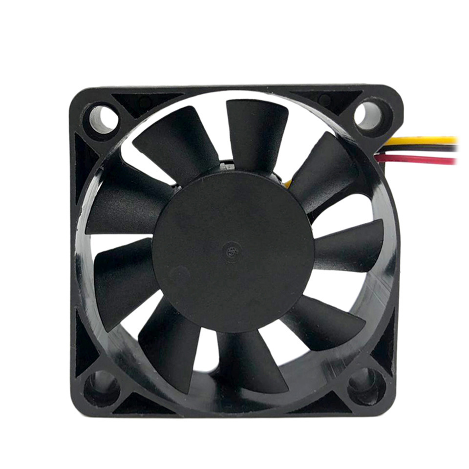 3 Pieces F5010 50mm Small Cooler Fan Computer Cooling Fan 12V Low Noise Desktop PC Case Fan 3 Pin Connector free shipping emacro msi pabd19735bm dc 12v 0 65a 3 wire 3 pin connector bare fan
