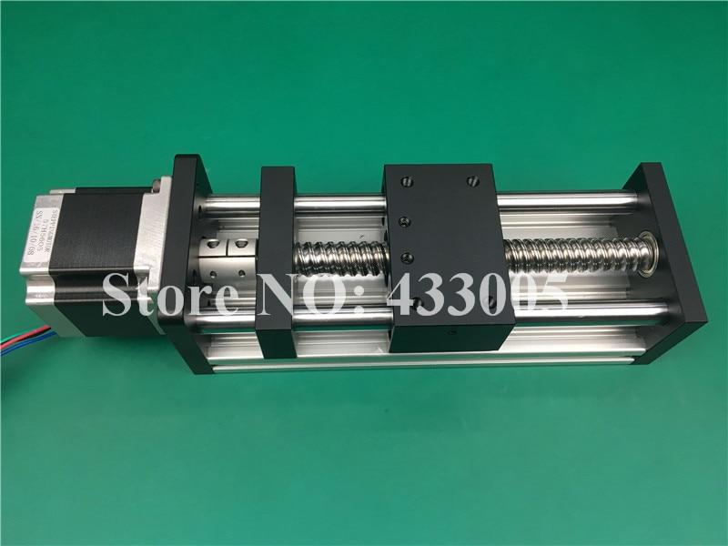 CNC GGP 1605 ballscrew Sliding Table effective stroke 500mm Guide Rail XYZ axis Linear motion+1pc nema 23 stepper  motor hgr20 linear guide width 20mm length 700mm with hgh20ca linear motion slide rail for cnc xyz axis 1pcs