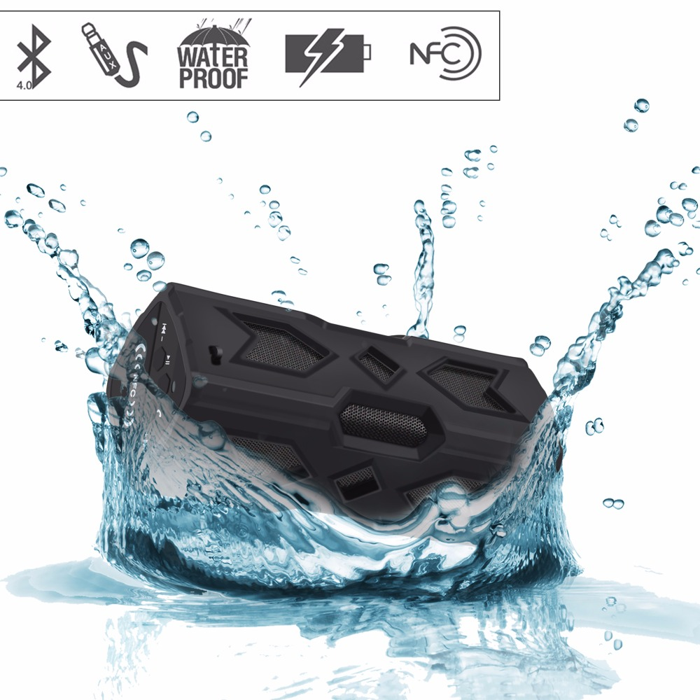 SVPRO Outdoor Sports Water Resistant Music Player Blue/black Bluetooth Wireless Speaker for driving Hiking Climbing Jogging