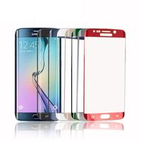 High Quality 0 3mm 2 5D 9H Curved Electroplating Full Screen Tempered Glass For Samsung S6