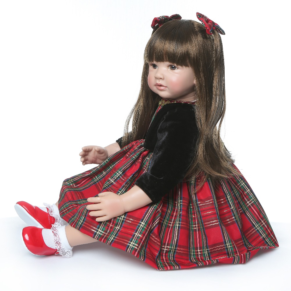 Image 3 - NPK 60cm Silicone Reborn Baby Dolls Baby Doll Alive Realistic Boneca Bebes Lifelike Real Girl Doll Reborn Birthday Christmas-in Dolls from Toys & Hobbies