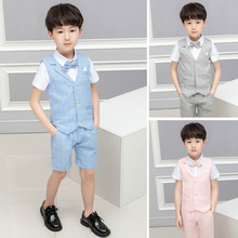 2019 summer boy suit shorts baby virgin costumes  Fashion clothes Cotton kids Regular suits ALI 293