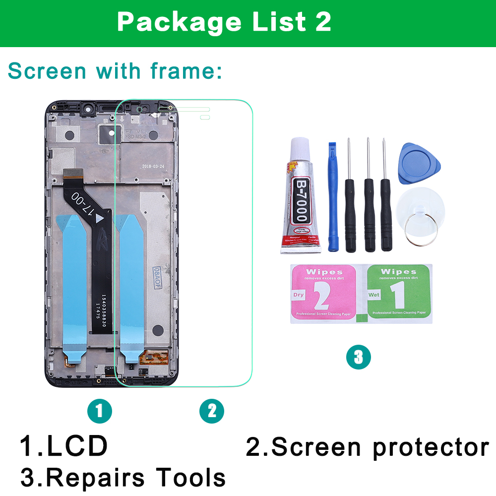 Original For Xiaomi Redmi 5 Plus LCD Display + Frame 10 Touch Screen Redmi5 Plus LCD Digitizer Replacement Repair Spare Parts