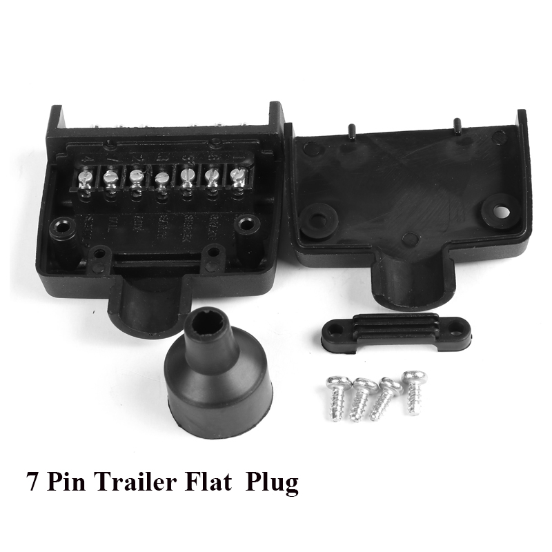Image 4 - 12V Car Accessories 7 Pin Flat Trailer Socket  plug 7 way  core pole  truck  g adapter Towing Electrics Connector  Connector-in Cables, Adapters & Sockets from Automobiles & Motorcycles
