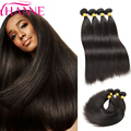 Hanne hair Products 7A Brazilian Virgin Hair Straight 4pcs/lot Human Hair Weave Unprocessed Virgin Brazilian Straight Hair 1B