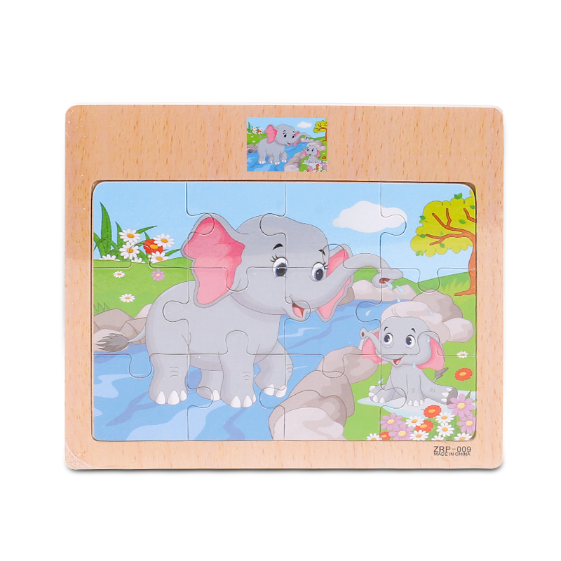 Cartoon Animal Traffic Jigsaw Puzzle Toys Wooden Board Toy Children Kids Cognitive Develop Early Education Puzzle Toys Boy Gifts